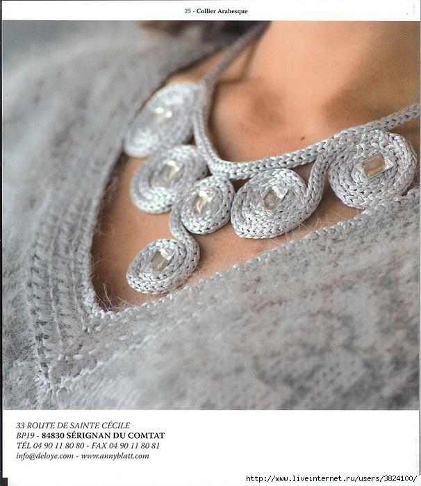 Вязанные украшения в одежде