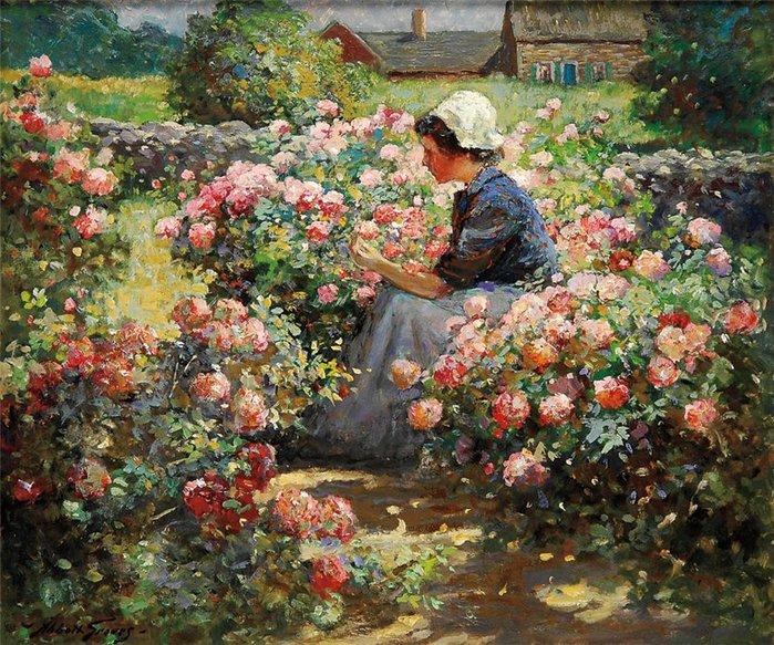 Розы акварелью открытки