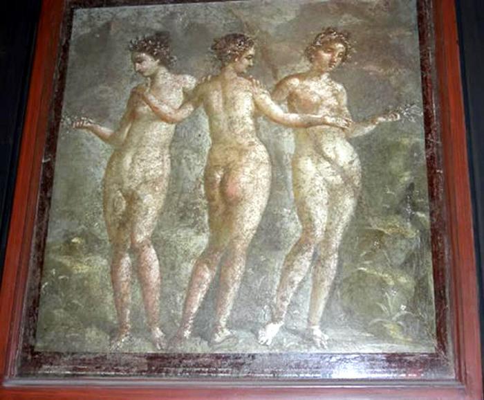 Три грации. Помпейская фреска.