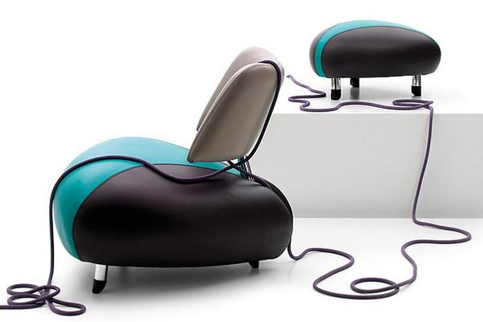 Кожаное кресло Pallone в новом дизайне