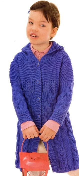 Вязание Пальто С Капюшоном Девочке 10 Лет