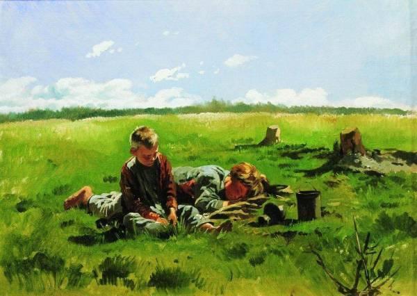 Мальчики в поле (600x426, 40Kb)