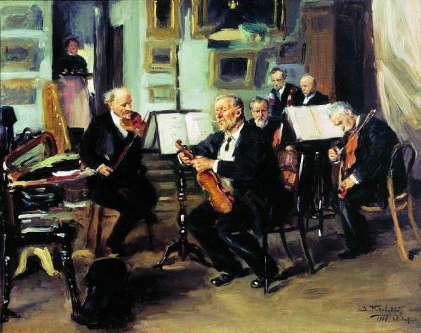 Музыкальный вечер 1906 (600x475, 79Kb)
