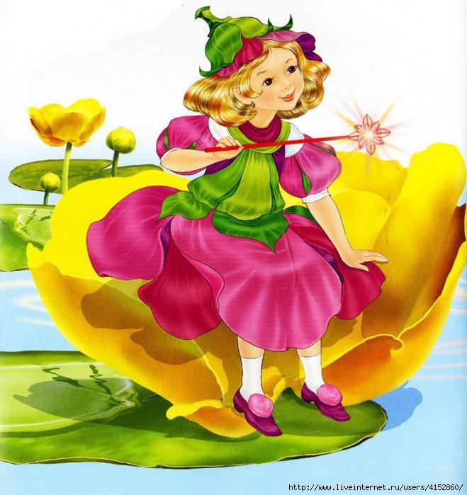 Картинка дюймовочка на цветке 5
