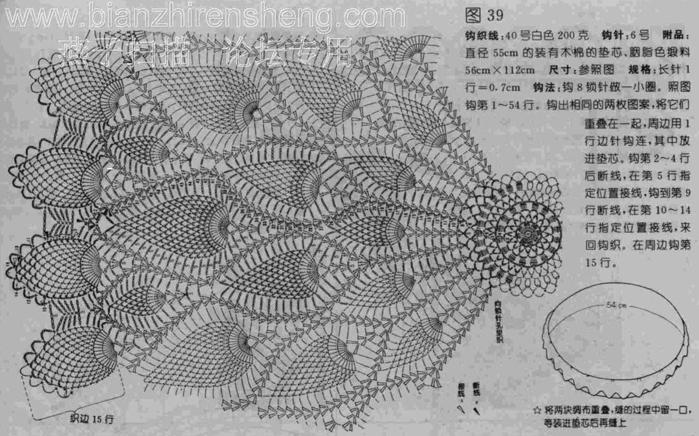 Вязание крючок схемы салфетка с ананасами