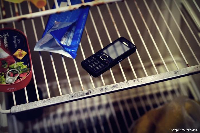 nokia 6300, телефон в холодильнике