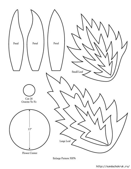 Листья из фетра своими руками выкройки 55