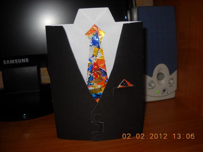 Открытка рубашка с бабочкой