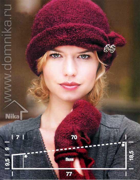 вязаные шляпки для женщин спицами сегодня наиболее