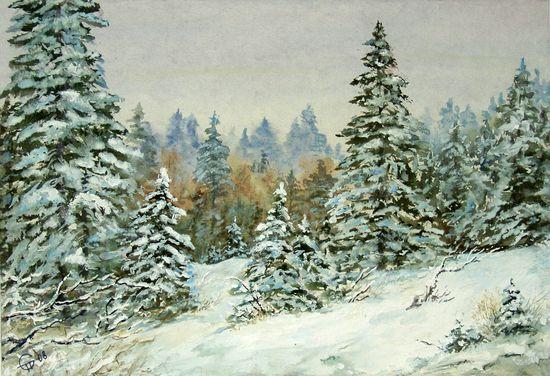 Прохоров Семён Зимний лес (550x376, 72Kb)