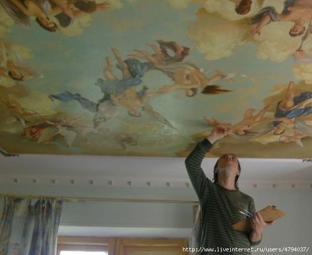 Роспись потолка своими руками