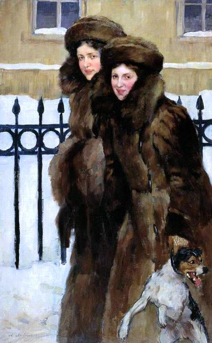 Александр Михайлович Любимов 1879-1955 - Портрет сестёр Кравос, 1906 (433x700, 288Kb)