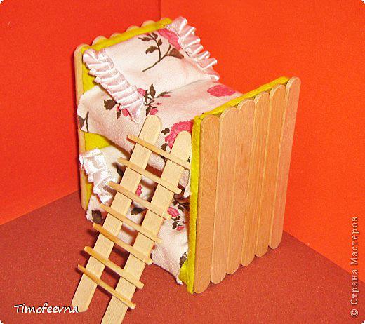 Как сделать кровать для маленькой куклы из картона