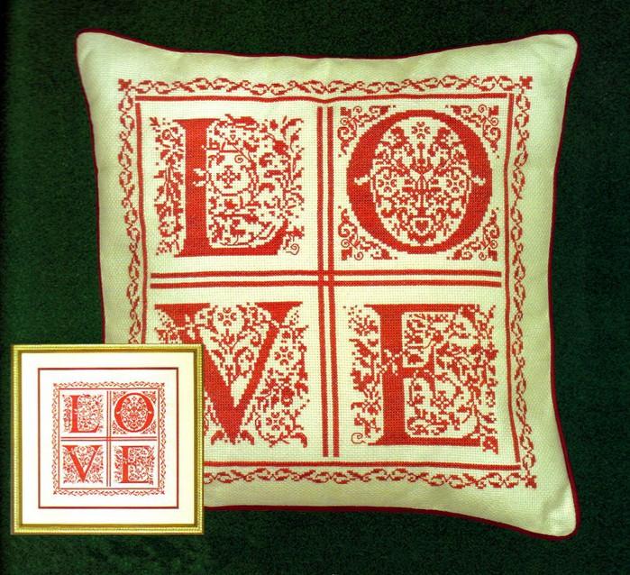 Схемы вышивки подушки монохром