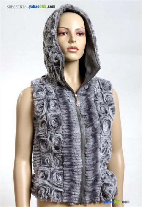 подиума,Вязание с меховой