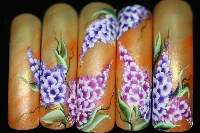 Китайская роспись ногтей фото.