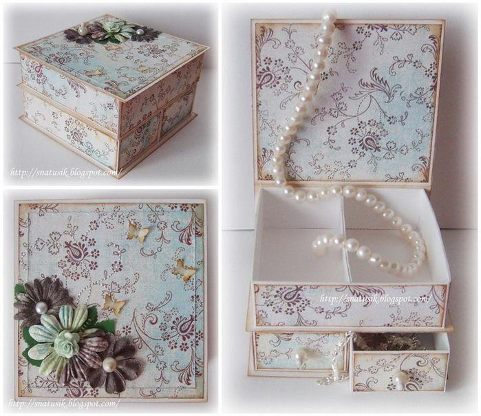 Сделать коробку из картона скрапбукинг