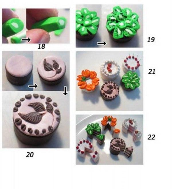 Как из глины сделать тортик 91