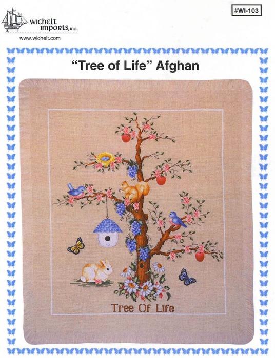 Дерево жизни. Вышивка крестом.