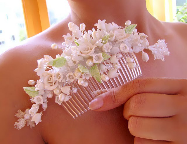 Украшение волос для свадьбы своими руками