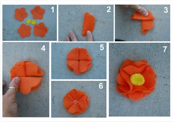 Цветы из ткани своими руками для начинающих мастер класс фото