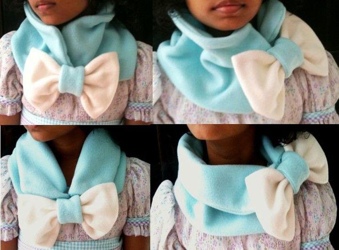 Сшить шарф снуд из флиса своими руками