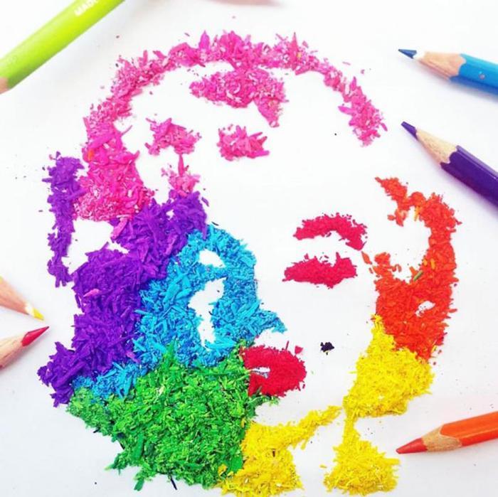 Как сделать рисунок карандашом из цветного