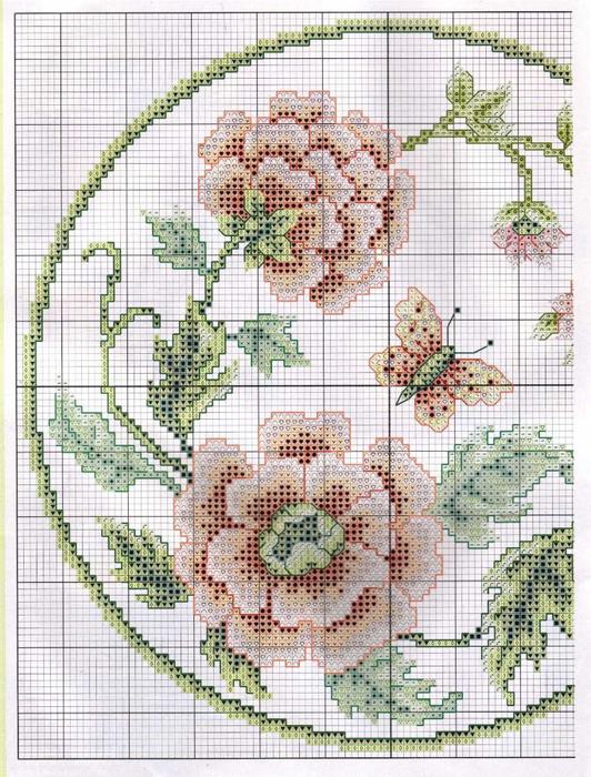 цветы и бабочка2 (532x700, 493Kb)