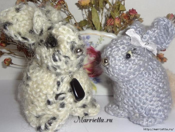 кролики и пасхальное яйцо в вязаных цветочках (18) (700x527, 306Kb)