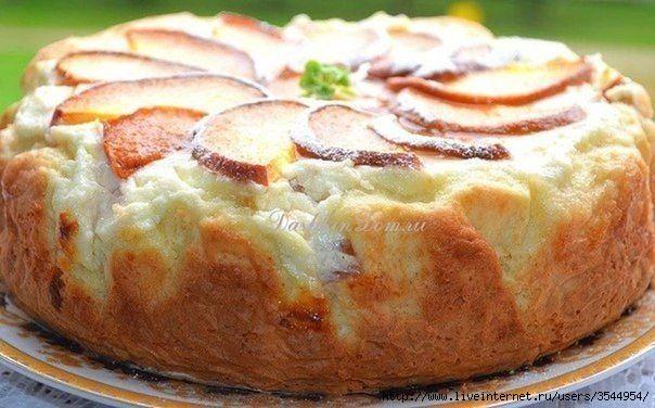 Пирог с творожно - персиковой начинкой (604x376, 139Kb)