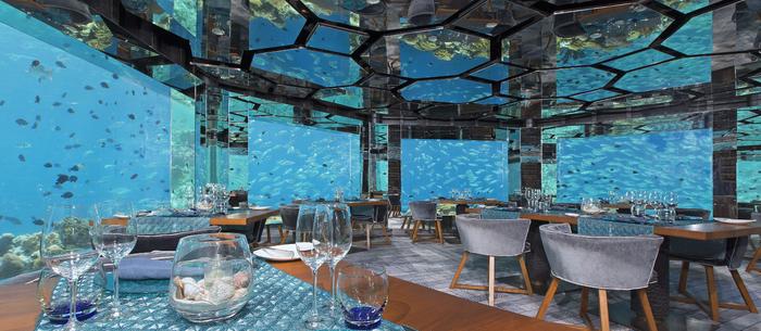 ресторан Sea.Fire.Salt.Sky. Restaurant на Мальдивах 1 (700x305, 353Kb)