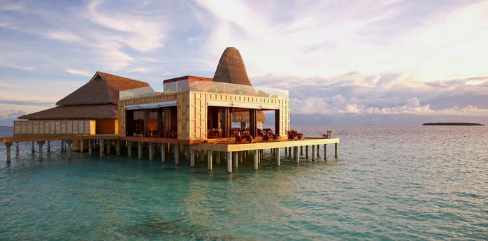 ресторан Sea.Fire.Salt.Sky. Restaurant на Мальдивах 6 (700x345, 298Kb)