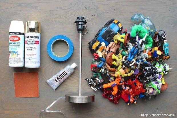 Креативная лампа из детских игрушек (4) (620x413, 168Kb)