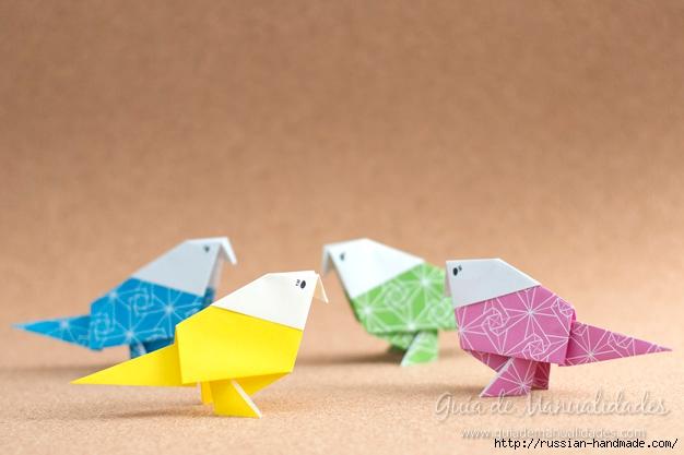 Как сложить ПТИЧКУ в технике оригами (1) (626x417, 128Kb)