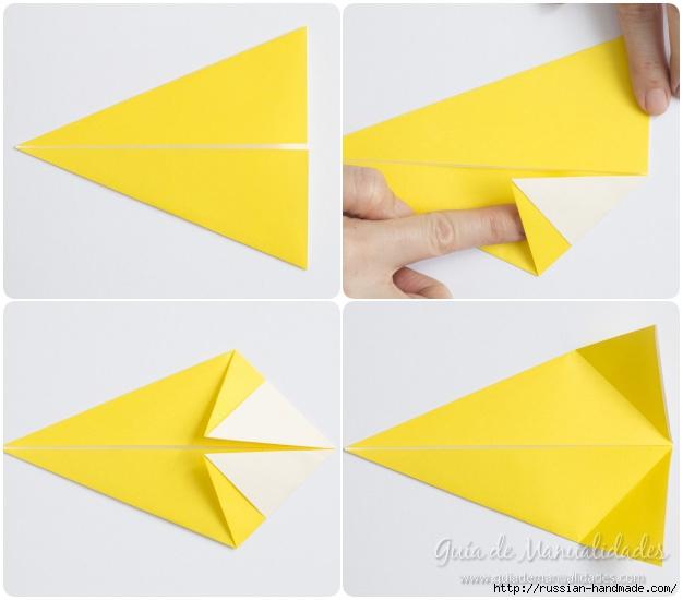 Как сложить ПТИЧКУ в технике оригами (5) (626x550, 124Kb)