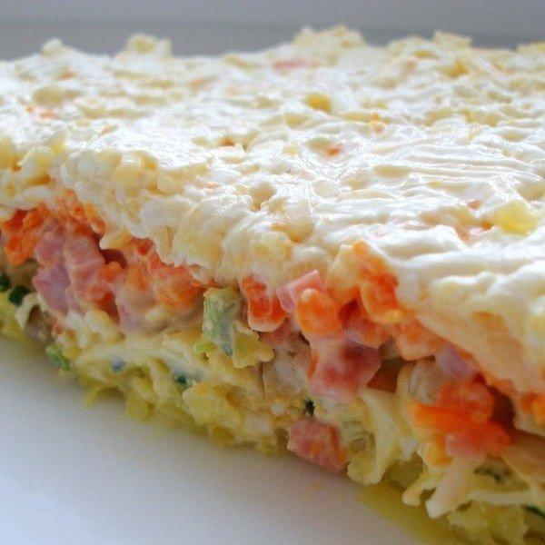 Слоеный салат с грибами (600x600, 59Kb)