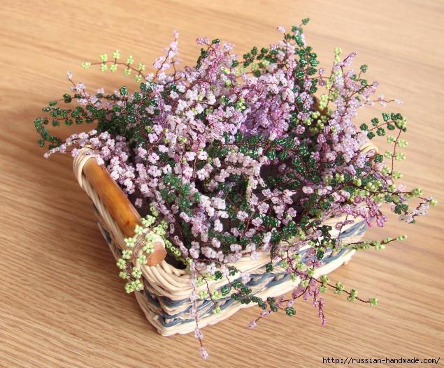 Корзинка с цветами ВЕРЕСКА ИЗ БИСЕРА (13) (635x527, 236Kb)