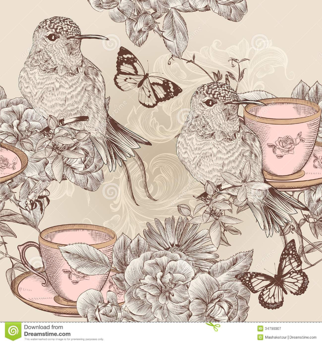 vector-seamless-wallpaper-pattern-floral-vintage-style-birds-flowers-34790307 (654x700, 501Kb)