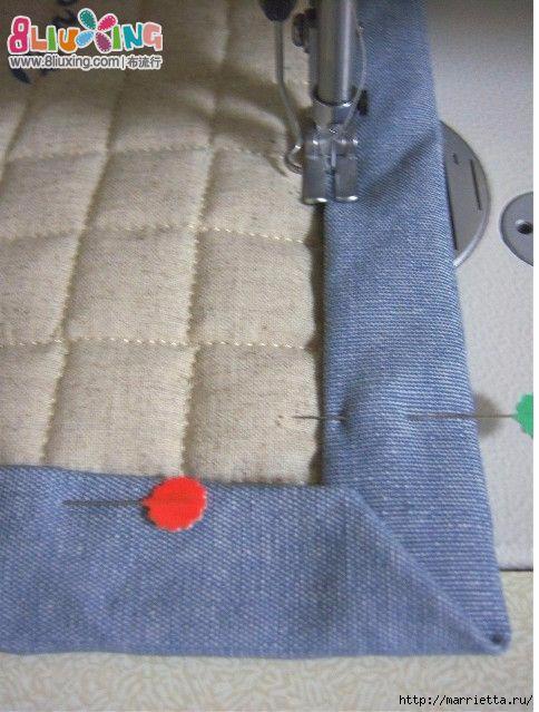 Как окантовать лоскутное одеяло (9) (484x639, 188Kb)