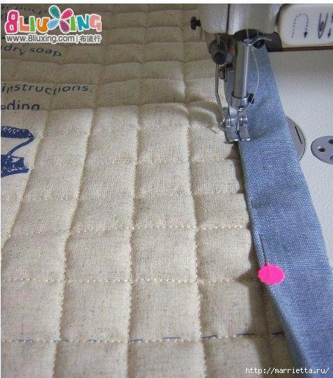 Как окантовать лоскутное одеяло (13) (478x543, 182Kb)