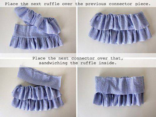 Шьем юбку с воланами