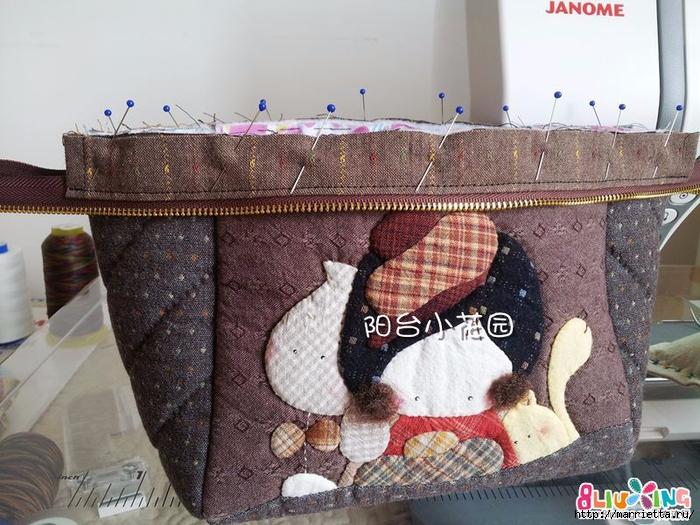 Как сшить сумку - саквояж. Фото мастер-класс (9) (700x525, 319Kb)