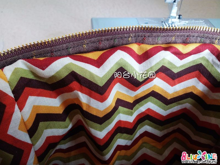 Как сшить сумку - саквояж. Фото мастер-класс (16) (700x525, 357Kb)