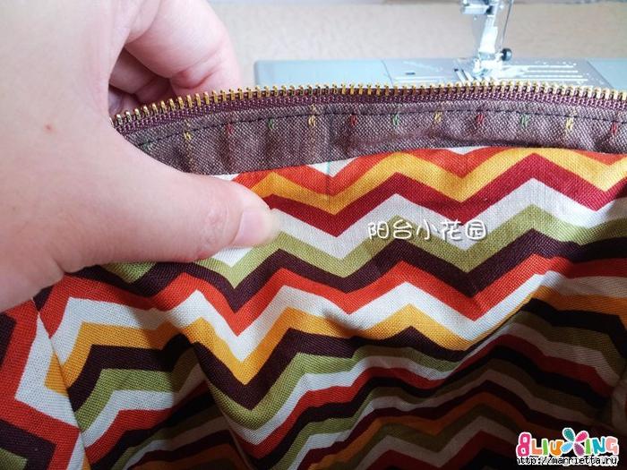 Как сшить сумку - саквояж. Фото мастер-класс (17) (700x525, 337Kb)