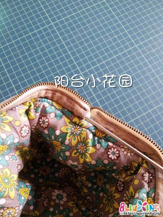 Как сшить сумку - саквояж. Фото мастер-класс (25) (525x700, 281Kb)