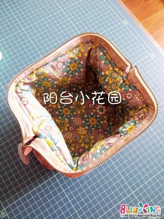 Как сшить сумку - саквояж. Фото мастер-класс (26) (525x700, 315Kb)