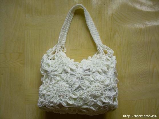 Вязаная сумочка в подсолнухах крючком (26) (557x417, 108Kb)