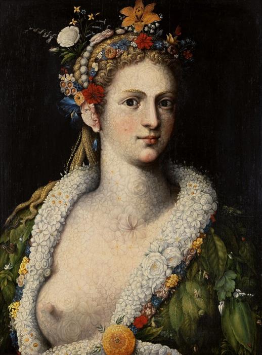 Giuseppe Arcimboldo. Flora meretrix. 1590 (518x700, 141Kb)
