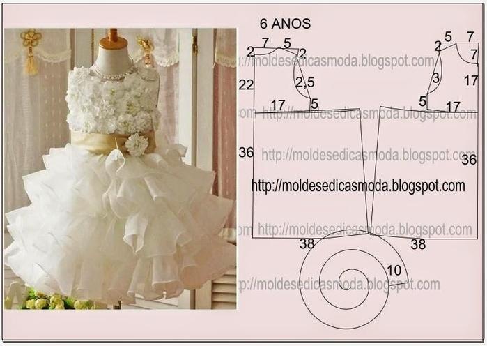 140Праздничное платье для девочки выкройки