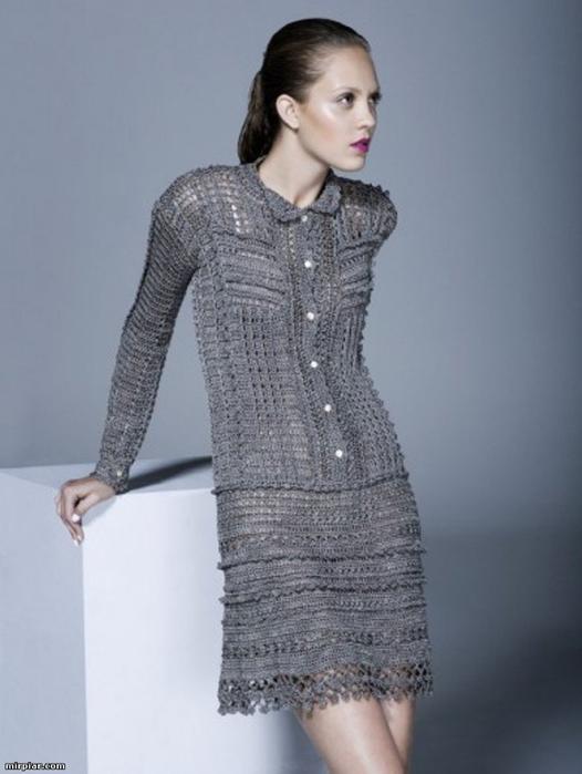 Вязаные шелковые платья